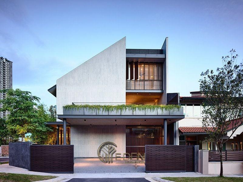 Thiết kế biệt thự 2 tầng không lo lãng phí mặt bằng