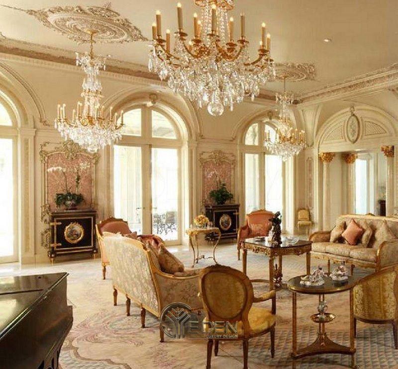 Thiết kế biệt thự Pháp hiện lên với những đồ nội thất thời lâu đài Pháp