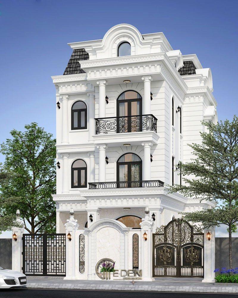 Thiết kế biệt thự 3 tầng cổ điển, tinh tế và khác biệt