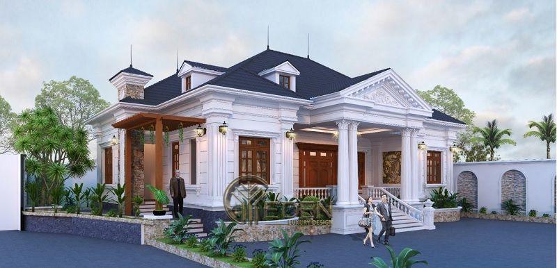 Nét đẹp trong phong cách thiết kế biệt thự mái thái