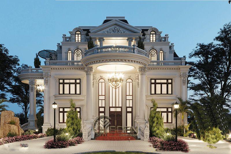 Thiết kế biệt thự 3 tầng theo lối phong cách Pháp tạo ra cảm giác sang trọng