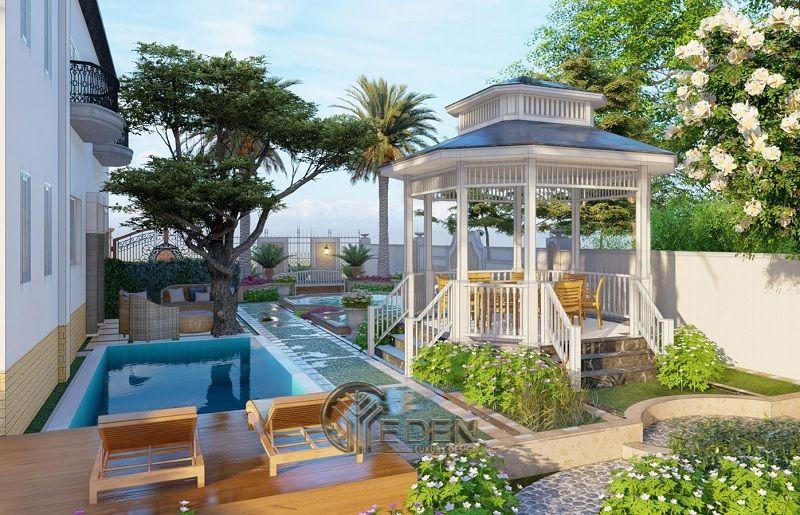 Thiết kế biệt thự sân vườn theo phong cách tân cổ điển