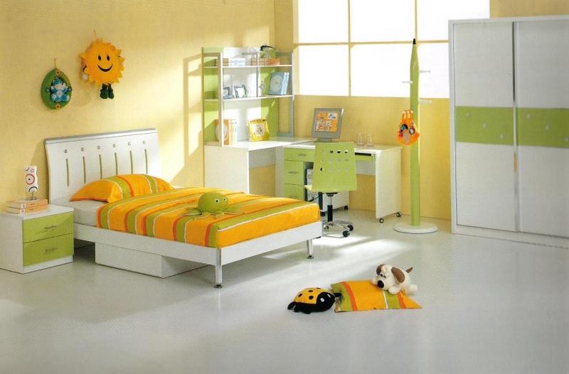 Trang trí nội thất phòng ngủ trẻ em với bàn học (5)