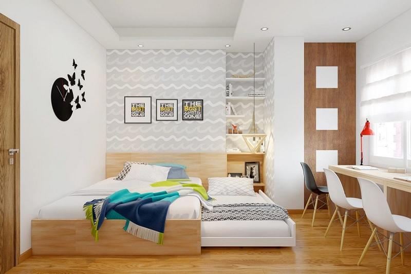 Trang trí nội thất phòng ngủ trẻ em với bàn học (6)