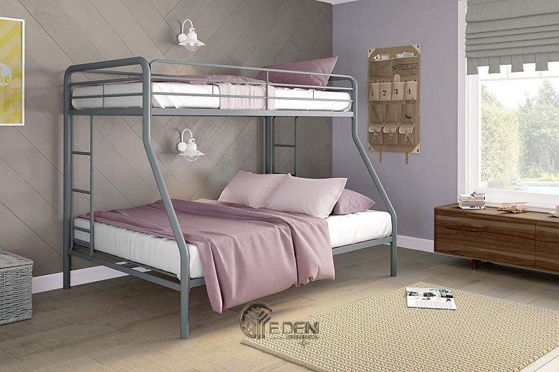 Mẫu giường cho 2 bé đơn giản cho các bé gái