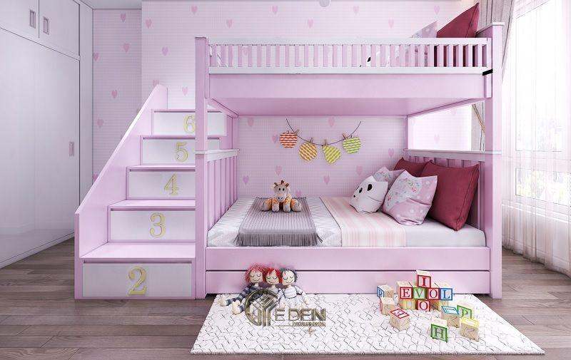 Mẫu giường cho 2 bé gái thỏa sức sáng tạo