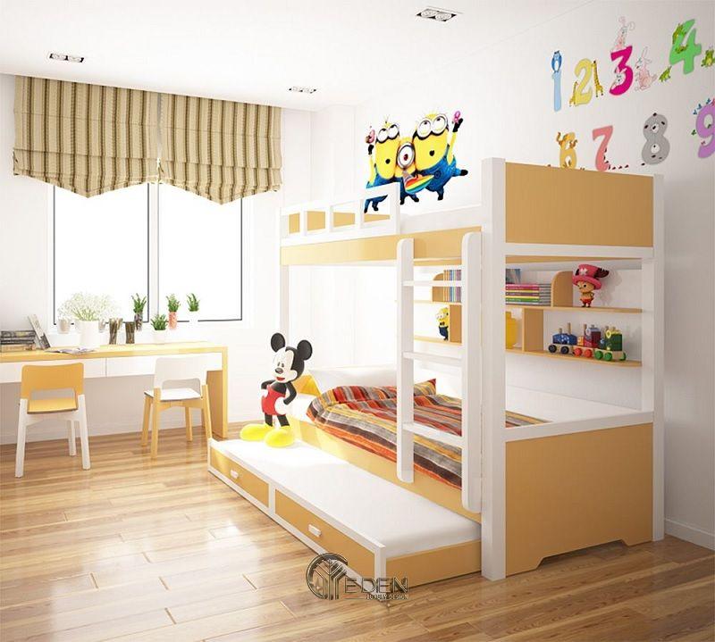 Trang trí phòng ngủ với gam màu tươi sáng đúng với độ tuổi của bê