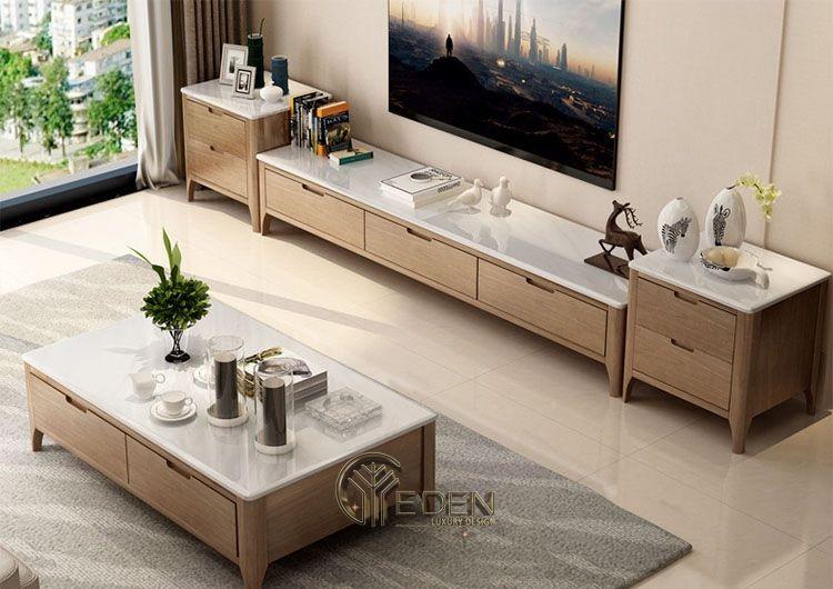 Kệ gỗ tivi trang trí theo phong cách hiện đại, mới lạ