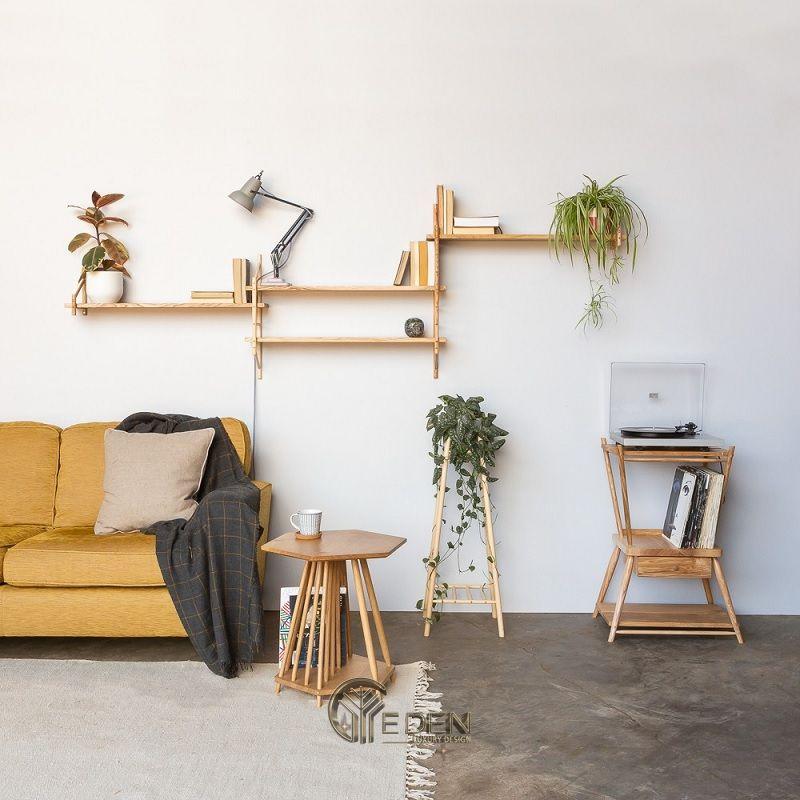 Mẫu thiết kế không gian phòng khách với kệ trang trí hiện đại (5)