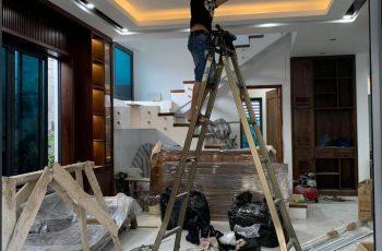 Thi công nội thất biệt thự gỗ óc chó tại Hà Tĩnh