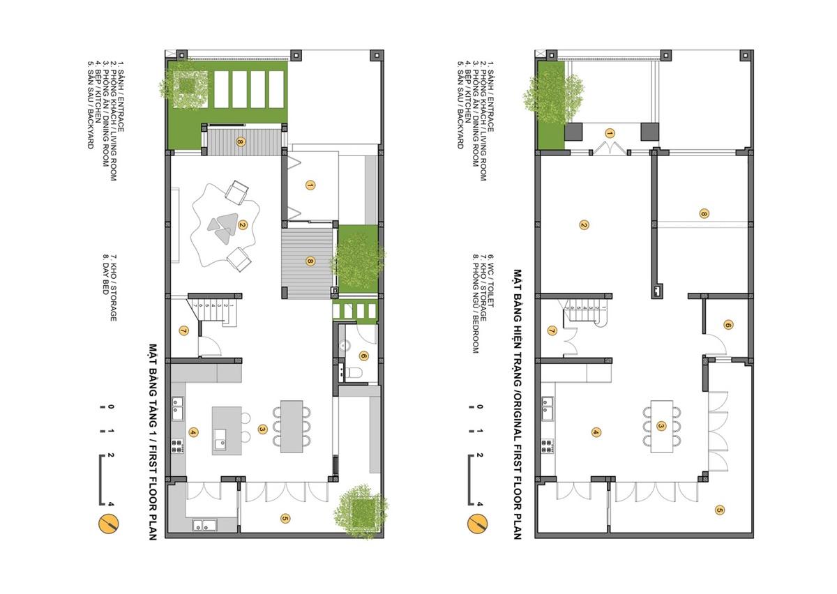 Cần xác định rõ các không gian chức năng chính của nhà phố