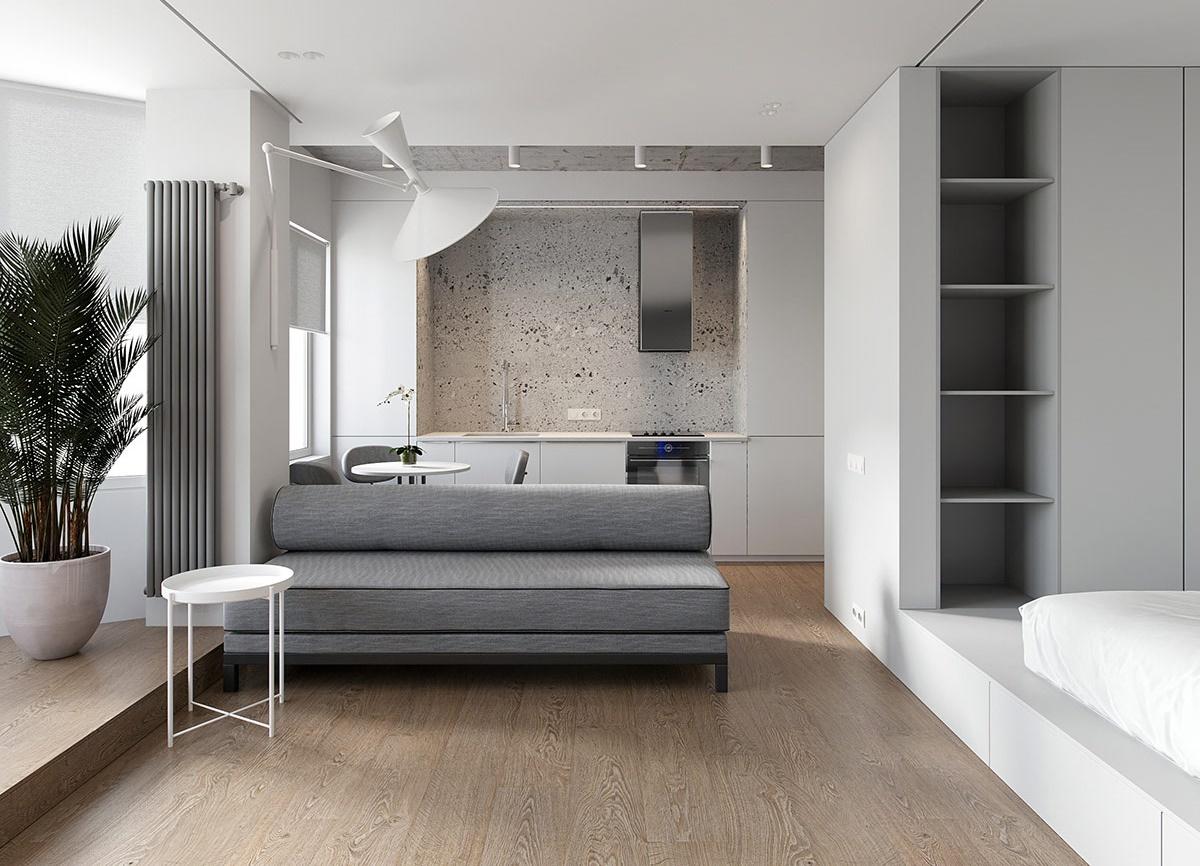 Bạn có thể chọn phong cách tối giản để đảm bảo tính linh hoạt, tiện nghi của căn hộ