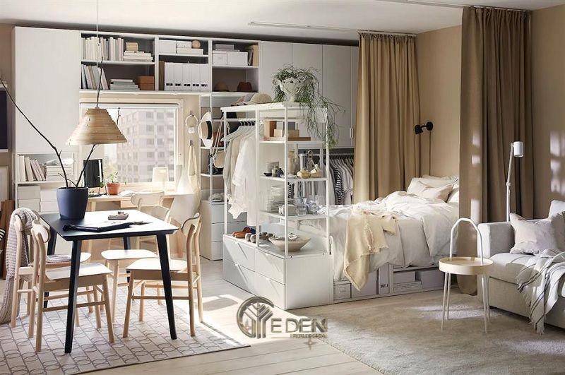 Mẫu vách ngăn dạng tủ sách, giúp gia đình tiết kiệm không gian nhà nhỏ (3)