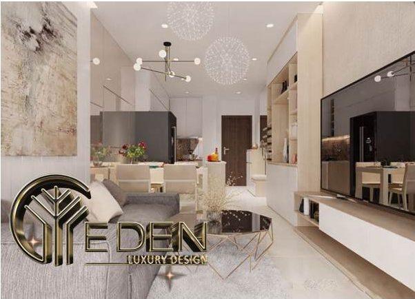Phòng khách đẹp, dịu nhẹ với các tông màu hài hòa