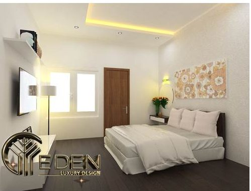 Phòng ngủ tầng 4 đơn giản cho khách hoặc người giúp việc