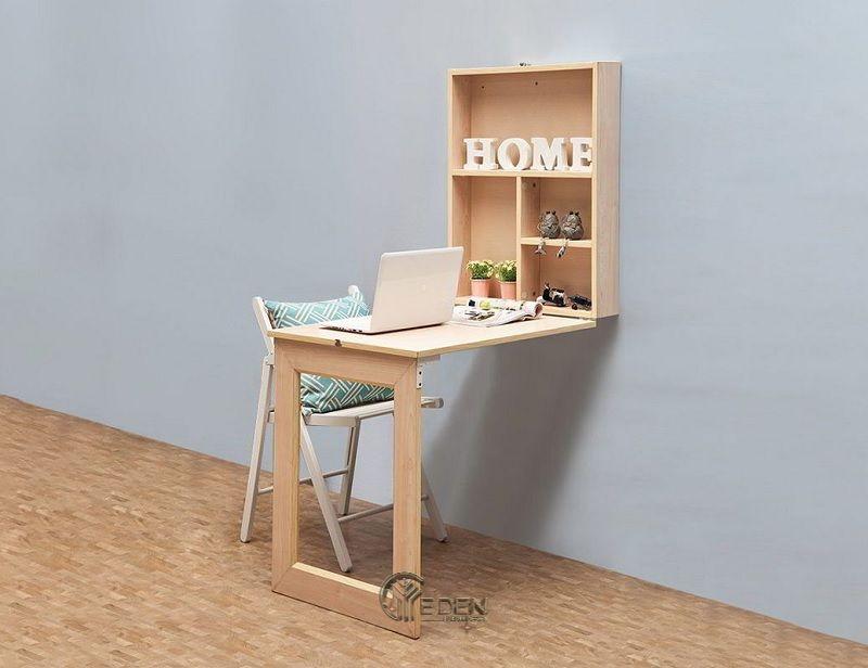 mẫu bàn làm việc kết hợp với tủ đựng sẽ mang lại sự tiện nghi, không gian lưu trữ cho gia đình. Khi không sử dụng bạn có thể gấp lại tránh việc tốn diện tích không gian