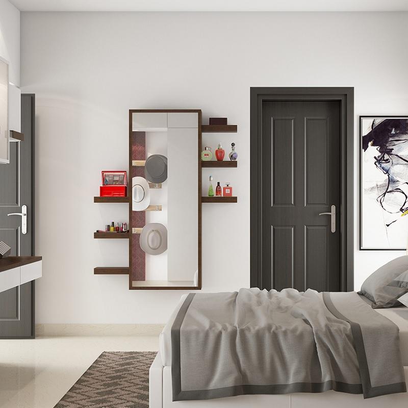 Trang trí phòng ngủ với bàn trang điểm nhỏ dáng đứng