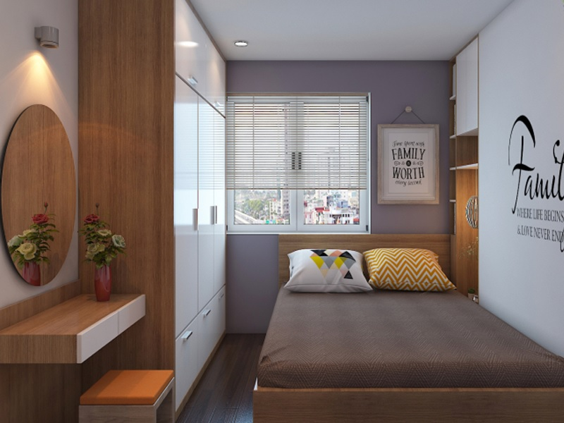 Xác định diện tích không gian phòng ngủ
