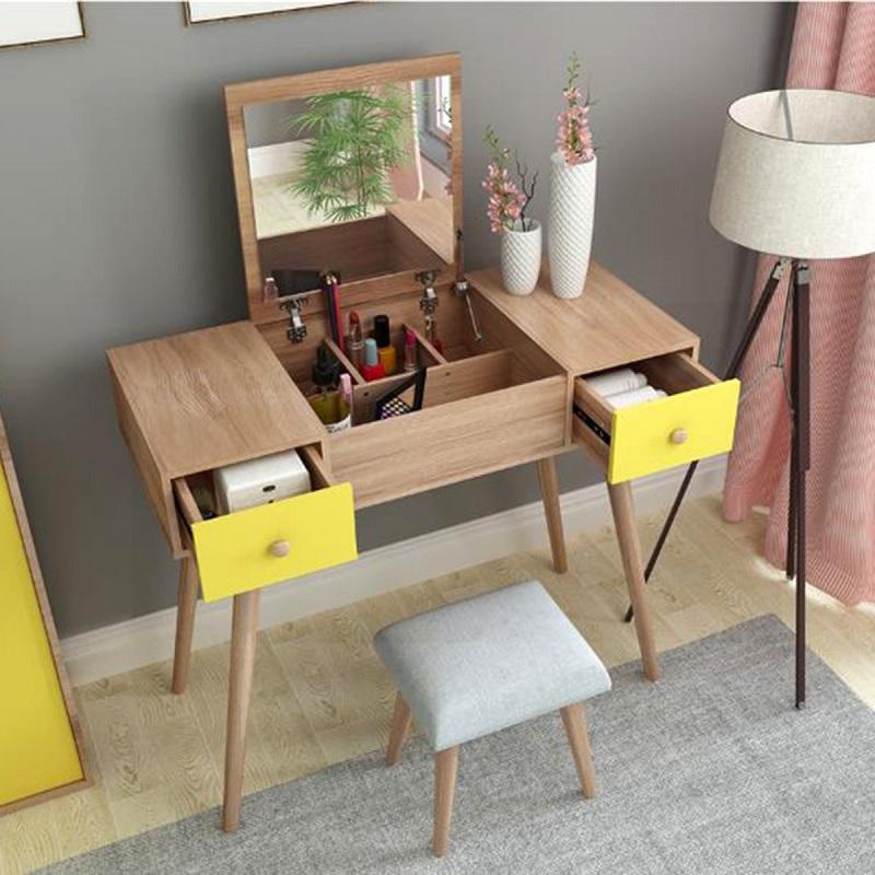 Trang trí phòng ngủ với bàn trang điểm nhỏ tiết kiệm không gian