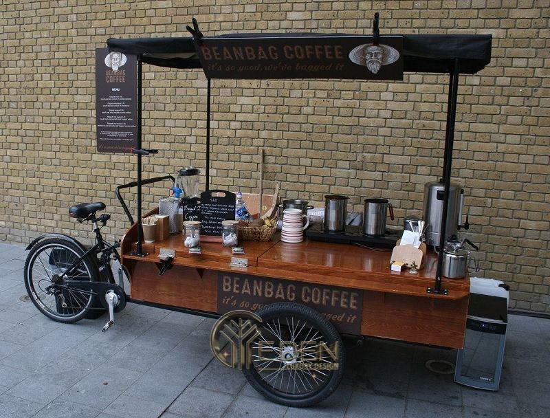 Thiết kế quán cafe take away đơn giản với 1 chiếc xe nhỏ