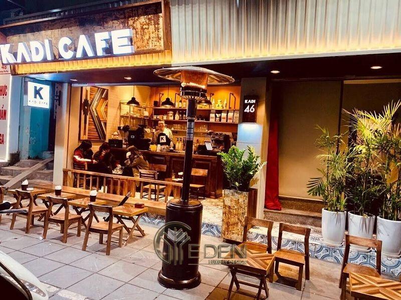 Thiết kế quán cafe vỉa hè nhỏ gọn , xinh xắn