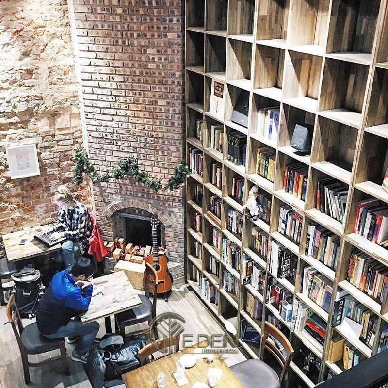 Thiết kế quán cafe sách mang phong cách cổ điển