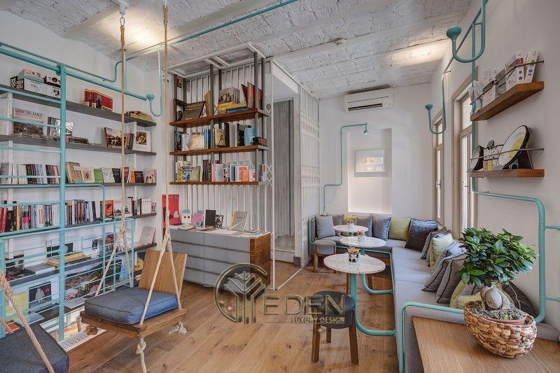 Thiết kế quán cafe sách phong cách Vintage