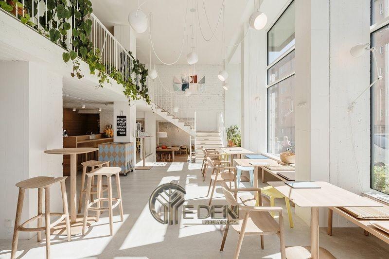 Thiết kế quán cafe trà sữa đẹp theo phong cách Scandinivian