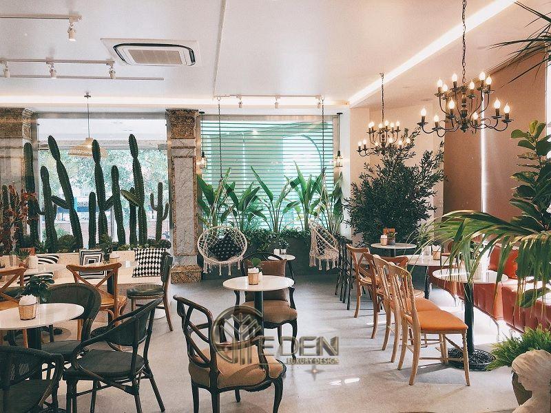Thiết kế quán cafe trà sữa phong cách tropical