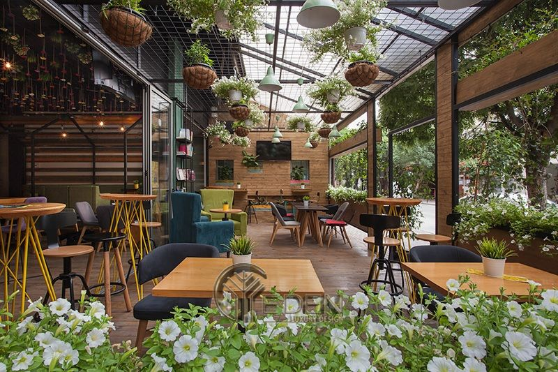 Thiết kế quán cafe cây xanh - Yên tĩnh và thời thượng