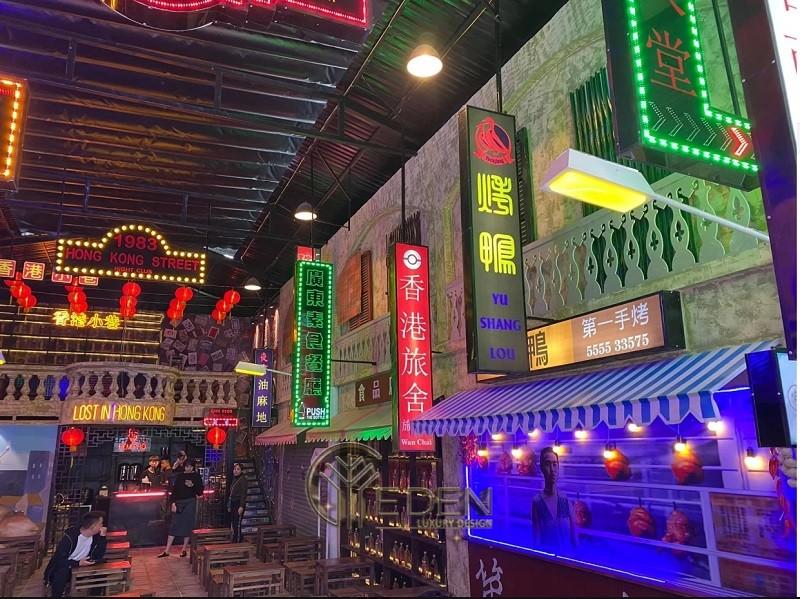 """Thiết kế quán cafe phong cách HongKong - """"thành phố không ngủ"""""""