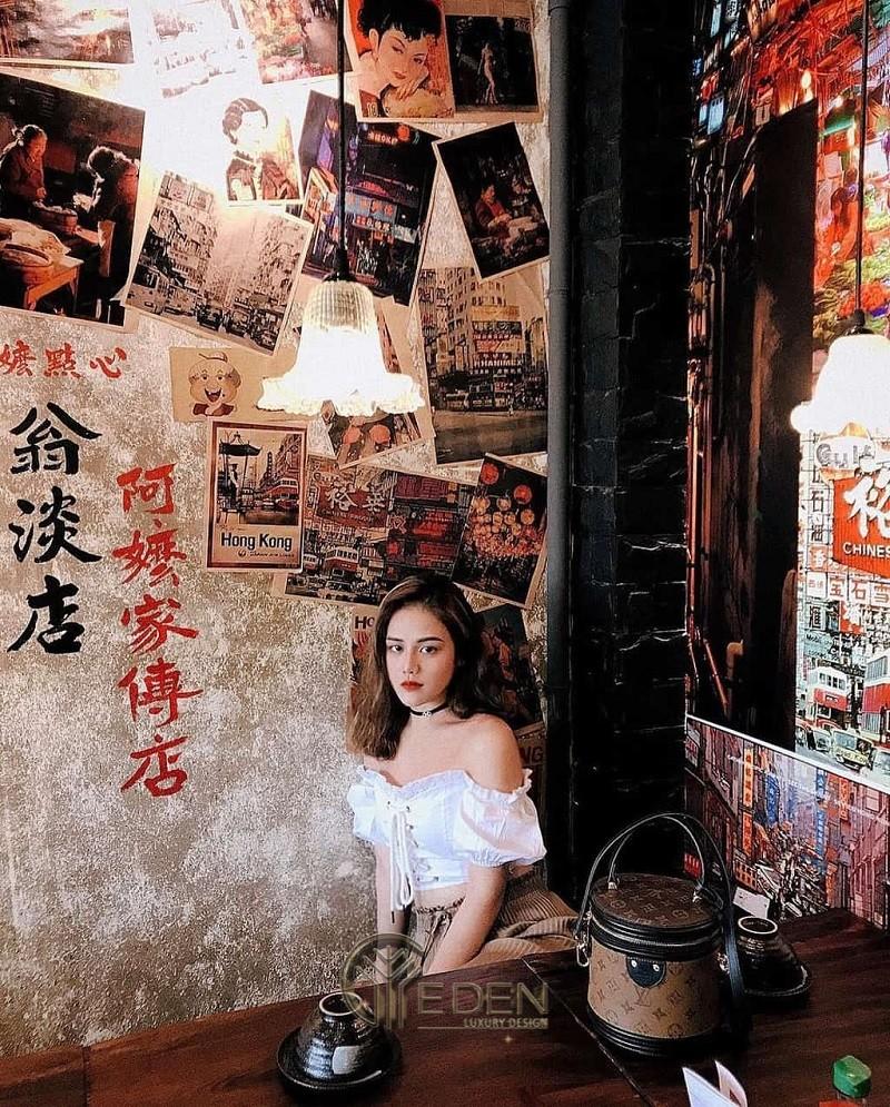 """Thiết kế quán cafe phong cách HongKong với hình ảnh """"phim truyền hình huyền thoại"""""""