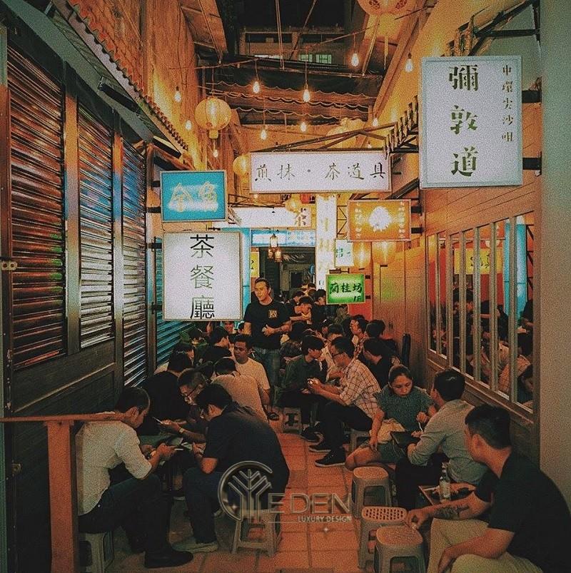 Thiết kế quán cafe phong cách HongKong toát lên cảm giác thời thượng