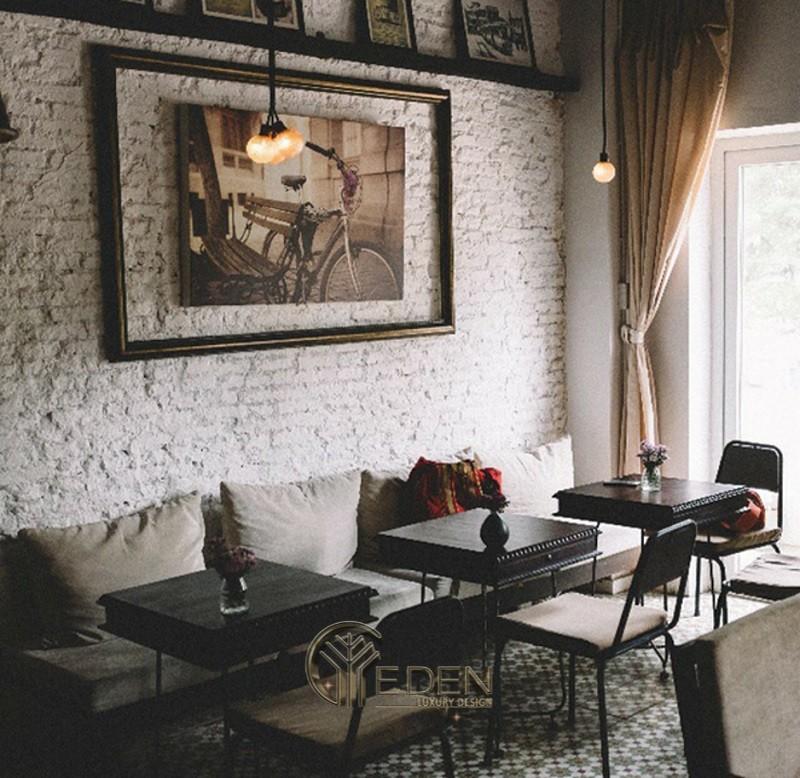 """Thiết kế quán cafe phong cách Retro phong cách Châu Âu """"cổ"""""""