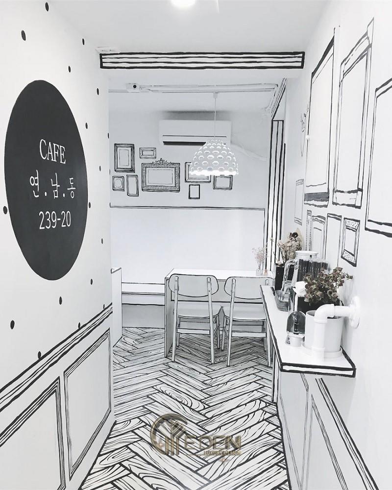 """Thiết kế quán cafe phong cách Hàn Quốc nhỏ xinh, """"chất - lạ"""""""
