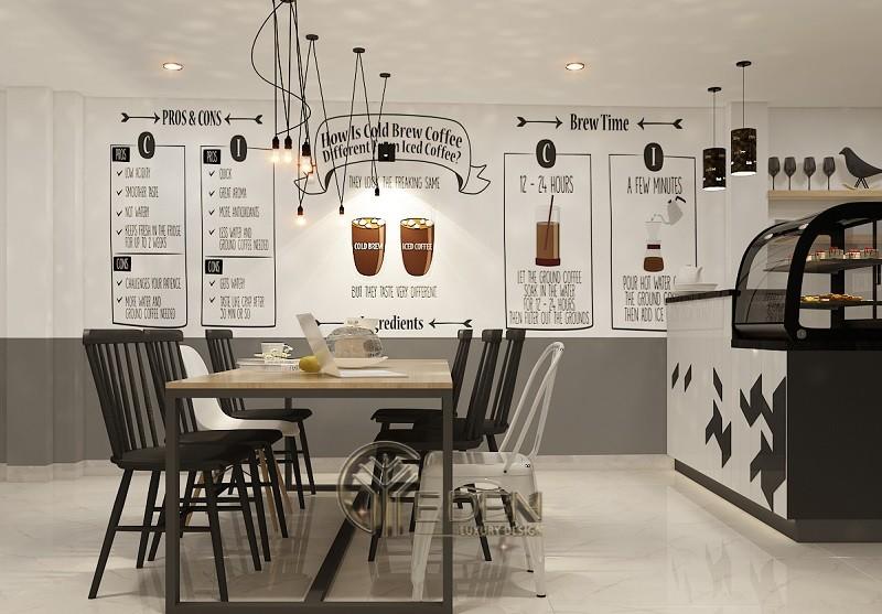Thiết kế quán cafe phong cách Châu Âu đơn giản, tinh tế