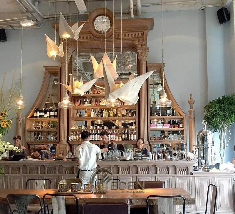 Thiết kế quán cafe phong cách Châu Âu cổ điển