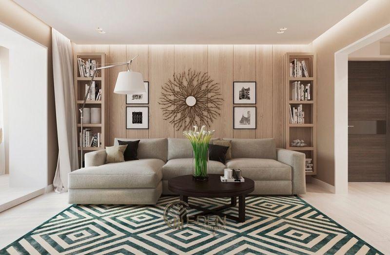 Thiết kế nội thất phòng khách với phong cách tân cổ điển (2)
