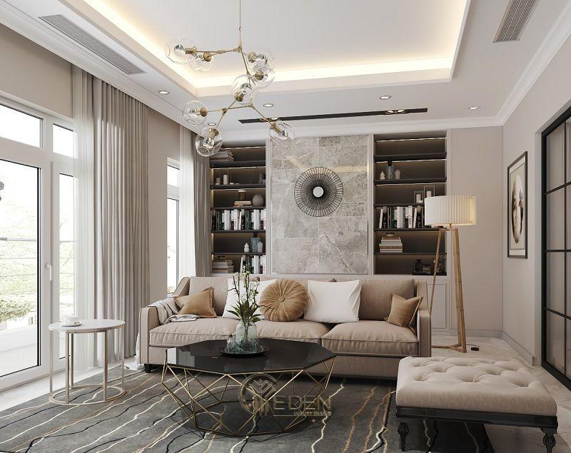 Trang trí nội thất phòng khách với phong cách tân cổ điển (1)