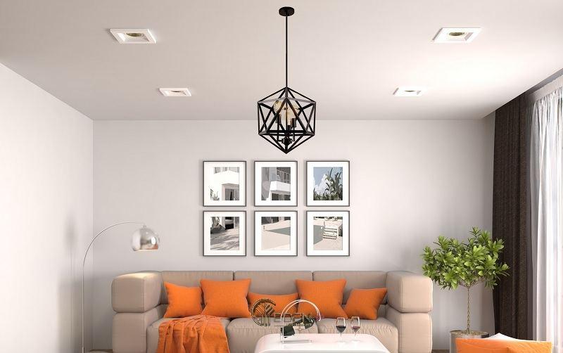 Lựa chọn đèn trang trí phòng khách với đúng mục đích