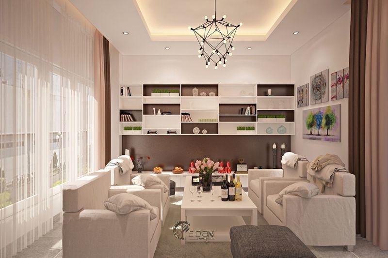 Đèn trang trí phòng khách phong cách hiện đại