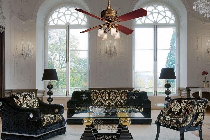 Mẫu đèn quạt cho không gian phong cách cổ điển