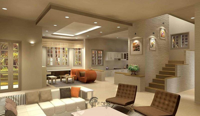 Sử dụng đèn âm tường sẽ yêu cầu sử dụng nhiều hơn một trong bất kỳ phòng nào để cung cấp đủ ánh sáng cho phòng khách.
