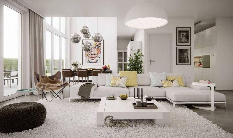Đèn trang trí phòng khách phong cách tối giản
