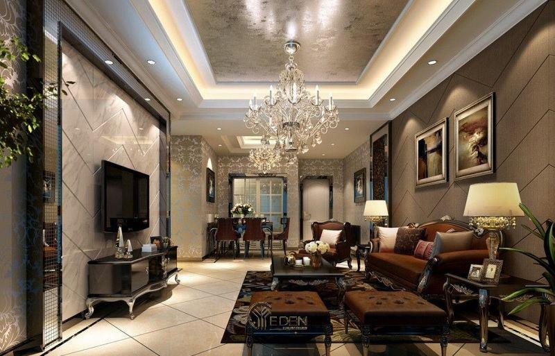 Đèn trang trí phòng khách phong cách cổ điển