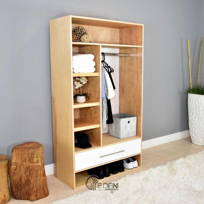 Mẫu tủ quần áo đơn giản, dễ dóng tại nhà dáng không cánh (5)