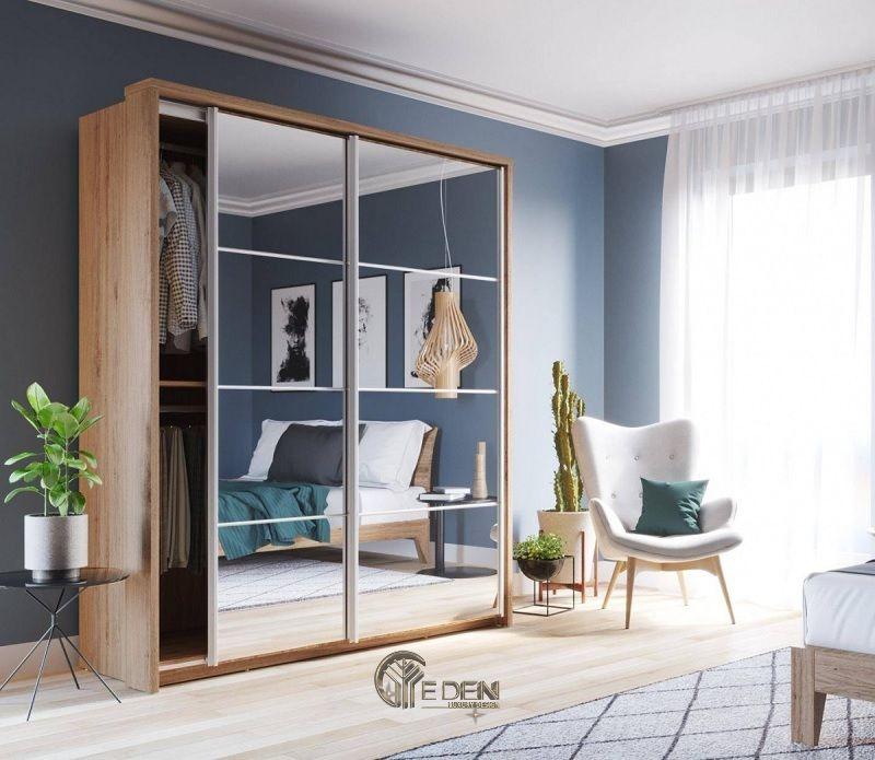 Mẫu tủ quần áo cửa lùa đơn giản, dễ dóng tại nhà (3)