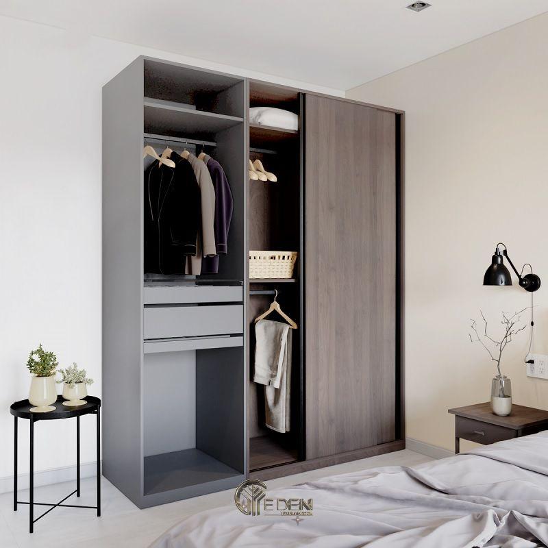 Mẫu tủ quần áo cửa lùa đơn giản, dễ dóng tại nhà (4)