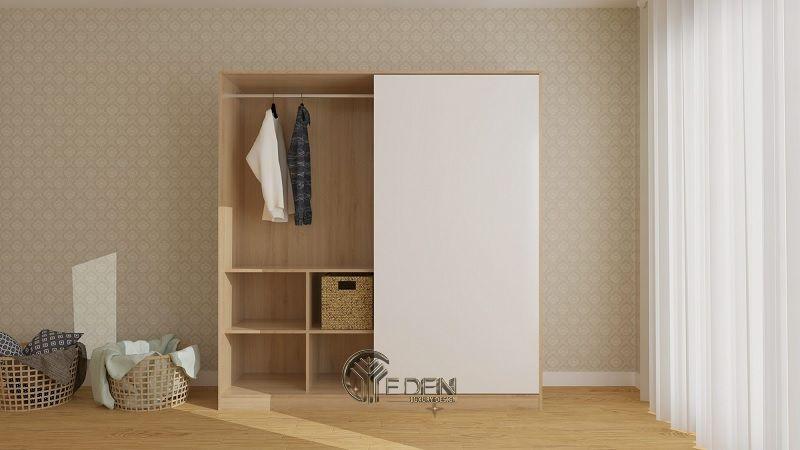 Mẫu tủ quần áo cửa lùa đơn giản, dễ dóng tại nhà (2)