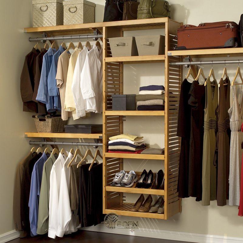 Mẫu tủ quần áo đơn giản, dễ dóng tại nhà dáng không cánh (3)